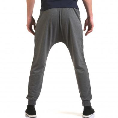 Ανδρικό γκρι παντελόνι jogger Belmode it090216-45 3