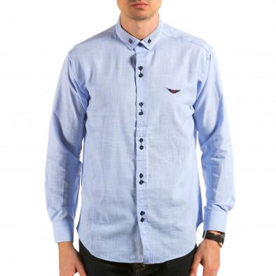 Ανδρικό γαλάζιο πουκάμισο Royal Kaporal il180215-172 3