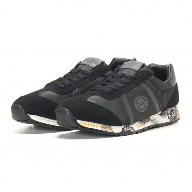 Ανδρικά μαύρα αθλητικά παπούτσια Marshall it291117-36 3