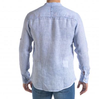 Ανδρικό γαλάζιο πουκάμισο RNT23 tr110320-89 4