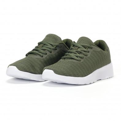 Ανδρικά πράσινα διχτυωτά αθλητικά παπούτσια  it160318-36 3
