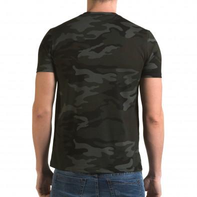 Ανδρική πράσινη κοντομάνικη μπλούζα Italian Boy it090216-64 3