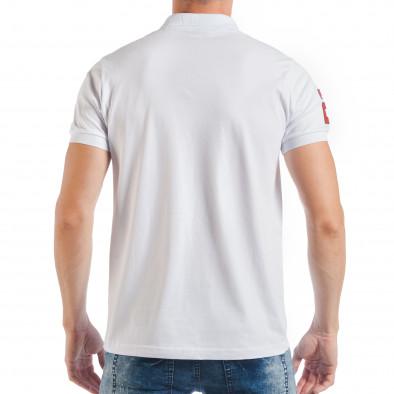 Ανδρική λευκή πόλο με το νούμερο 2  tsf250518-40 3