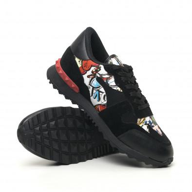 Ανδρικά μαύρα αθλητικά παπούτσια FM tr180320-29 4