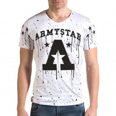 Ανδρική λευκή κοντομάνικη μπλούζα Lagos il120216-40 2