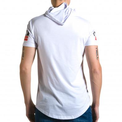 Ανδρική λευκή κοντομάνικη μπλούζα Belman ca190116-42 3