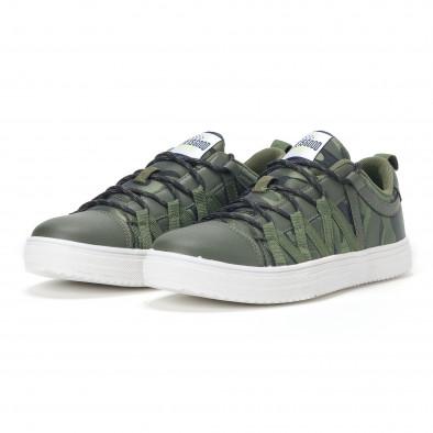 Ανδρικά πράσινα sneakers παραλλαγής με κορδόνια it160318-6 3