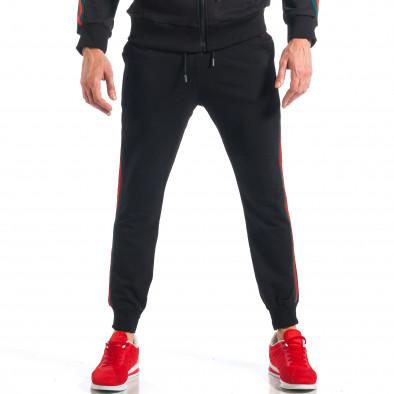 ce553324af35 ... Ανδρική μαύρη αθλητική φόρμα με κόκκινες και πράσινες ρίγες it110418-17  5 ...