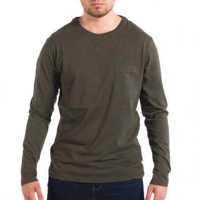 Ανδρική πράσινη μπλούζα με τσέπη RESERVED lp070818-47 2