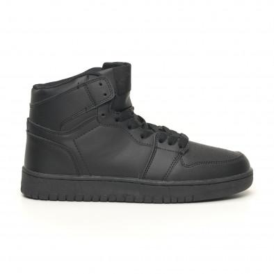 Ανδρικά ψηλά μαύρα sneakers it051219-1 2