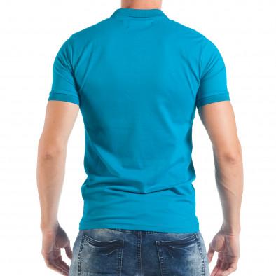 Ανδρική κοντομάνικη πόλο σε γαλάζιο χρώμα tsf250518-37 3