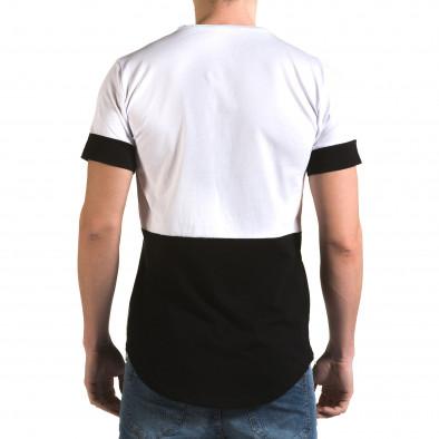 Ανδρική λευκή κοντομάνικη μπλούζα Man it090216-70 3