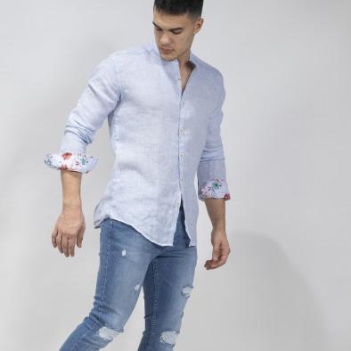 Ανδρικό γαλάζιο πουκάμισο RNT23 tr110320-89 2