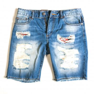 Ανδρικό γαλάζιο τζιν βερμούδα Always Jeans ca030414-2 4