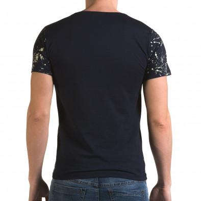 Ανδρική γαλάζια κοντομάνικη μπλούζα Lagos il120216-2 3