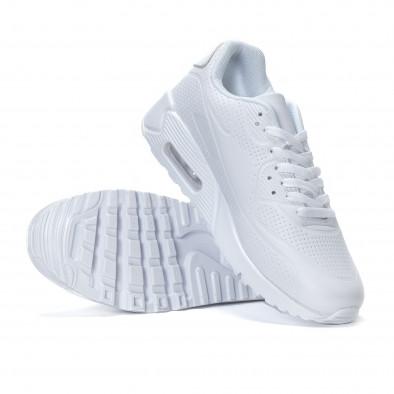 Ανδρικά λευκά αθλητικά παπούτσια με σόλες αέρα it240418-26 4