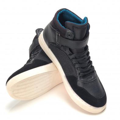 Ανδρικά μαύρα sneakers Reeca it100915-20 4