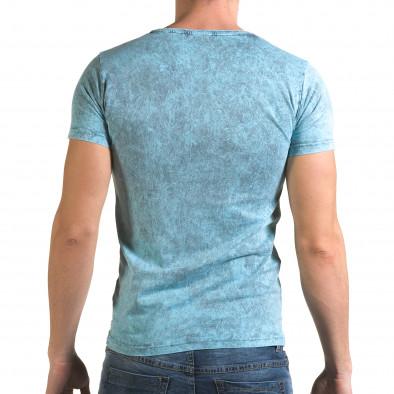 Ανδρική γαλάζια κοντομάνικη μπλούζα Lagos il120216-15 3