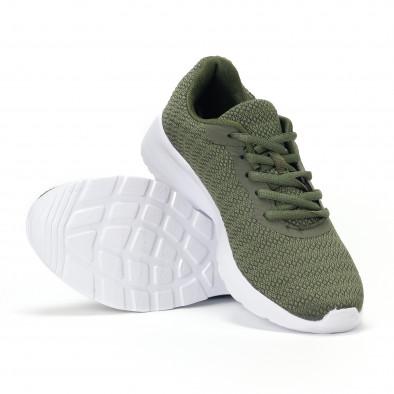 Ανδρικά πράσινα διχτυωτά αθλητικά παπούτσια  it160318-36 4