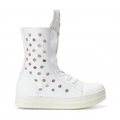 Γυναικεία λευκά μποτάκια Fersini it240118-29 2