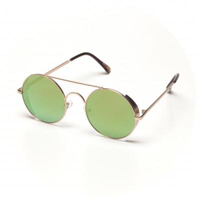 899014c4ea Ανδρικά στρογγυλά καφέ γυαλιά ηλίου με φακούς καθρέφτη it250418-23 ...
