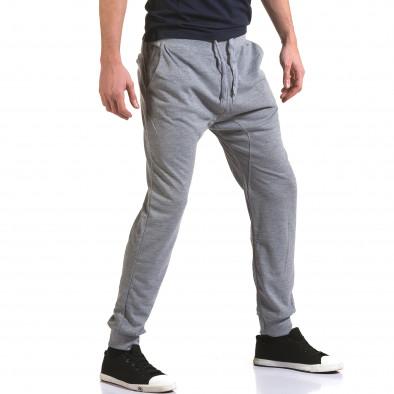 Ανδρικό γκρι παντελόνι jogger Dress&GO it090216-38 4