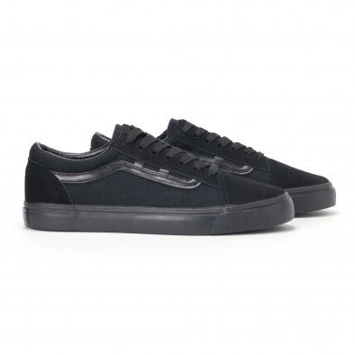 Ανδρικά μαύρα υφασμάτινα sneakers Old Skool it160318-25 3