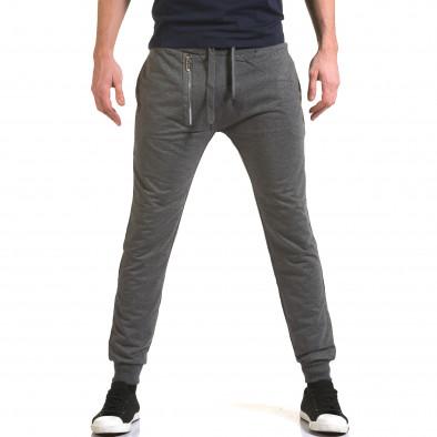 Ανδρικό γκρι παντελόνι jogger Belmode it090216-43 2