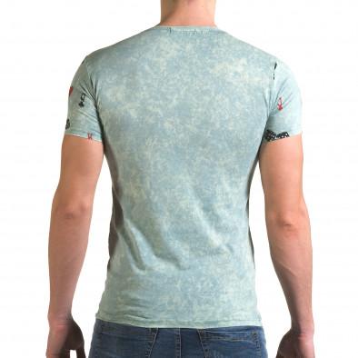 Ανδρική πράσινη κοντομάνικη μπλούζα Lagos il120216-32 3