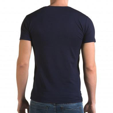 Ανδρική γαλάζια κοντομάνικη μπλούζα Lagos il120216-28 3