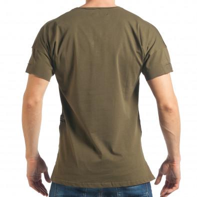 Ανδρική πράσινη κοντομάνικη μπλούζα Breezy tsf020218-14 3