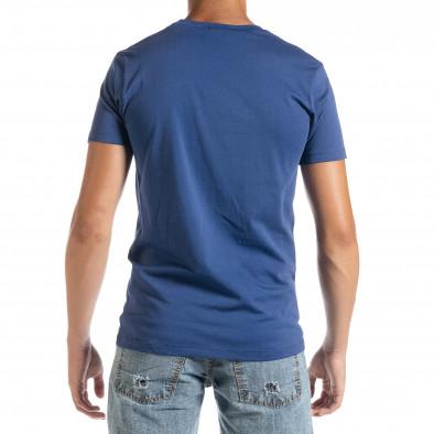 Ανδρική γαλάζια κοντομάνικη μπλούζα D.Park it010720-24 3