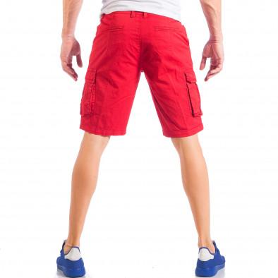Ανδρική κόκκινη βερμούδα με cargo τσέπες it050618-28 5