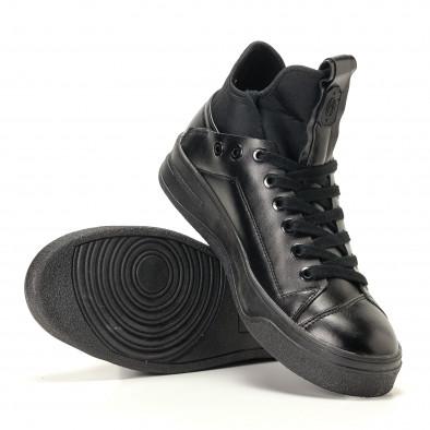 Ανδρικά μαύρα sneakers Montefiori it200917-15 4