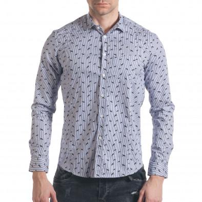Ανδρικό γαλάζιο πουκάμισο Furia Rossa it140317-2 2