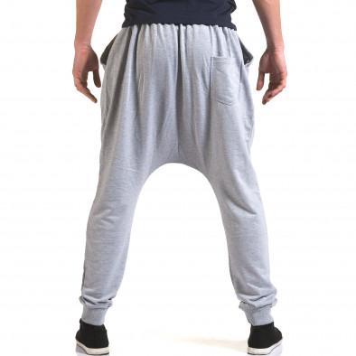 Ανδρικό γκρι παντελόνι jogger Dress&GO it090216-34 3