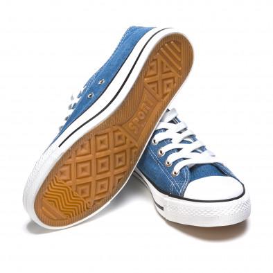 Ανδρικά γαλάζια sneakers Dilen it170315-7 4