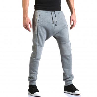 Ανδρικό γκρι παντελόνι jogger New Star it211015-56 4