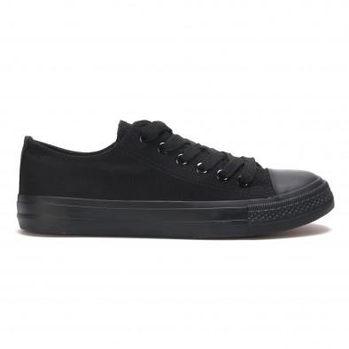 Ανδρικά μαύρα sneakers Bella Comoda it260117-40 2