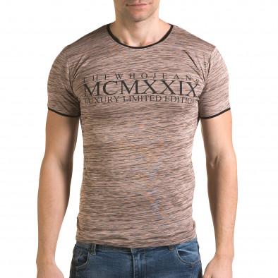 Ανδρική ροζ κοντομάνικη μπλούζα Lagos il120216-37 2