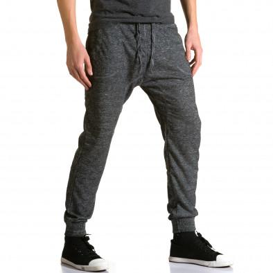 Ανδρικό γκρι παντελόνι jogger Dress & GO ca190116-29 4
