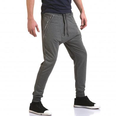 Ανδρικό γκρι παντελόνι jogger Belmode it090216-41 4
