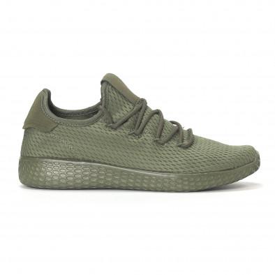 Ανδρικά πράσινα ελαφριά αθλητικά παπούτσια All-green it240418-7 2
