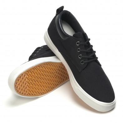 Ανδρικά μαύρα sneakers Garago it170315-14 4
