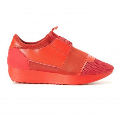 Γυναικεία κόκκινα αθλητικά παπούτσια Anesia it200917-51 2