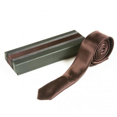 Ανδρική καφέ γραβάτα Fashionmix 080213-17 2