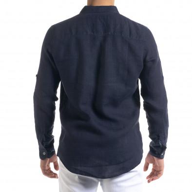 Ανδρικό μπλε πουκάμισο RNT23 tr110320-93 4