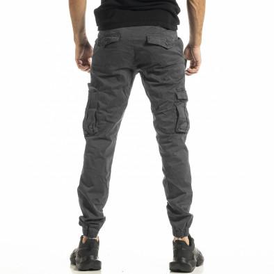 Ανδρικό γκρι παντελόνι Cargo Jogger tr161220-20 3