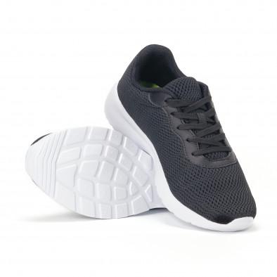 Ανδρικά μαύρα διχτυωτά αθλητικά παπούτσια it160318-35 4