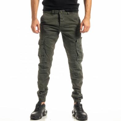 Ανδρικό πράσινο παντελόνι cargo Jogger tr300920-4 2